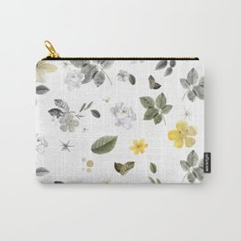 Yellow Flowers & White Roses 8 Carry-All Pouch