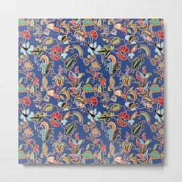 Sarong Kebaya Batik Blue Metal Print