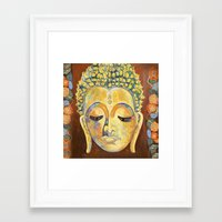 buddah Framed Art Prints featuring Buddah by cushionartaustralia