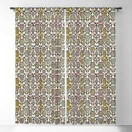 Floral Circuitry Blackout Curtain