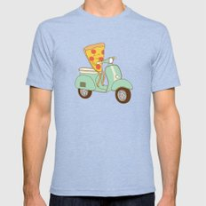 pizza delivery Mens Fitted Tee Tri-Blue SMALL