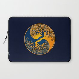 Blue and Yellow Tree of Life Yin Yang Laptop Sleeve