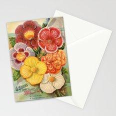Vintage Floral Begonias Stationery Cards