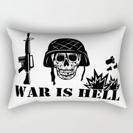 War Is Hell: Stop The War Rectangular Pillow
