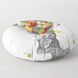 Happy Baby Elephant Floor Pillow
