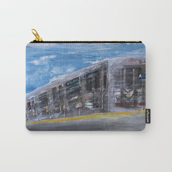 Moving A Train on NYC MTA Platform Carry-All Pouch
