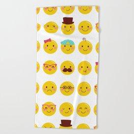 Cheeky Emoji Faces Beach Towel
