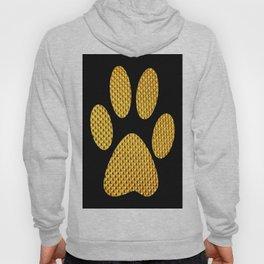 Golden Dog footprint-Black Hoody
