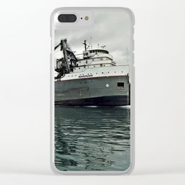 Saginaw Freighter Clear iPhone Case