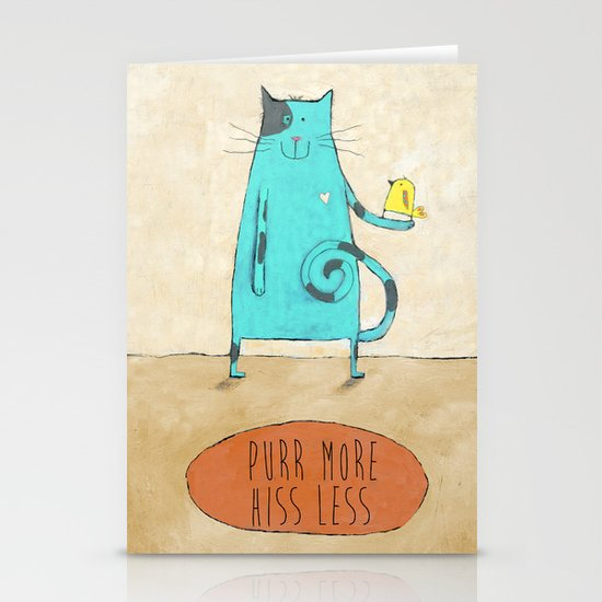 Purr More Hiss Less Stationery Cards