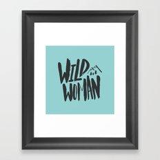 Wild Woman x Blue Framed Art Print