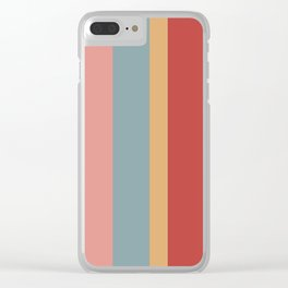 Rainbow, Pink  - Style Me Stripes Clear iPhone Case