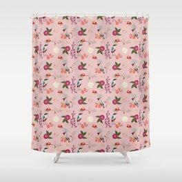Eastern delight Japanese garden, pink. Shower Curtain