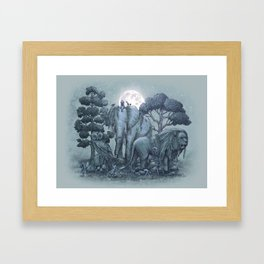 Midnight in the Stone Garden (colour option) Framed Art Print