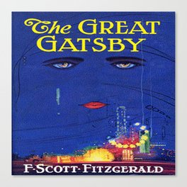 The Great Gatsby vintage book cover - Fitzgerald Canvas Print