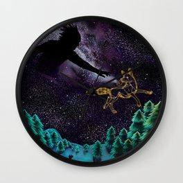 Black God and Coyote Wall Clock