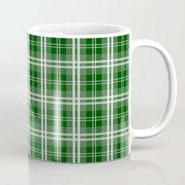 Christmas Tree Green Tartan Plaid Check Coffee Mug
