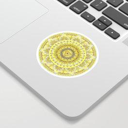 Solar Plexus Chakra Healing Mandala - Manipura - Original Watercolor Sticker