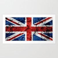 british flag Art Prints featuring British Flag by TOJO Art