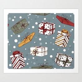 Chritmas gifts pattern Art Print