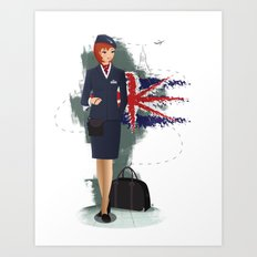Come fly with me, let's fly, let's fly away - England Art Print