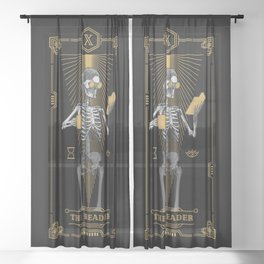 The Reader X Tarot Card Sheer Curtain