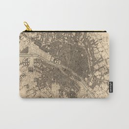 Paris Vintage Maps And Drawings Carry-All Pouch