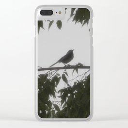 Spring Sparrows Clear iPhone Case