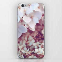 Pink and White Flowers (Color) iPhone Skin