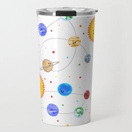Kawaii Solar System Pattern Travel Mug