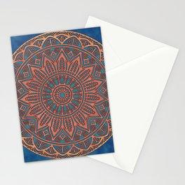 Wooden-Style Mandala Stationery Cards