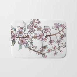 Sakura pink spring flowers Bath Mat