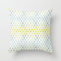 polka dots Throw Pillows featuring Polka dots by Selkiesong
