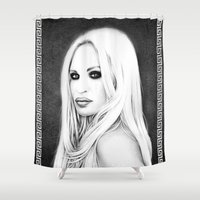 versace Shower Curtains featuring Donatella Versace by Denda Reloaded