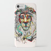 lion king iPhone & iPod Cases featuring Lion by Felicia Cirstea