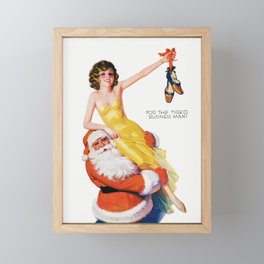 She Knows The Way To your Heart - Vintage Pin Up Girl Art Framed Mini Art Print