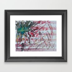 american graffiti Framed Art Print