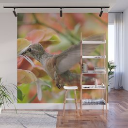 Little Ms. Hummingbird in for More Licks Wall Mural