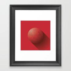 Flat Planet - #1 Mars Framed Art Print