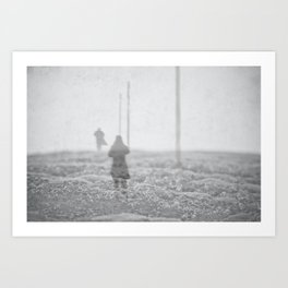 Winter's Crossing Art Print