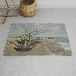 Vincent van Gogh - Fishing Boats on the Beach at Les Saintes-Maries-de-la-Mer Rug