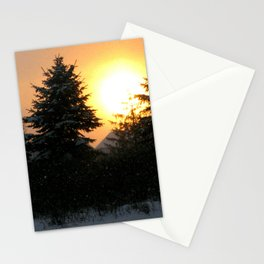 Sunset Over Pines Stationery Cards
