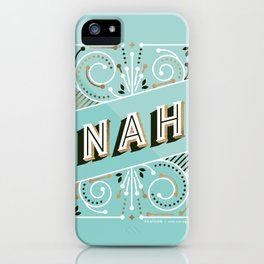 Nah – Mint & Rose Gold Palette iPhone Case
