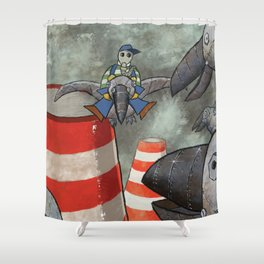 Steelcrows Shower Curtain