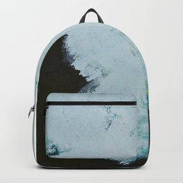 Skyline: Acrylic semi-abstract landscape, trees against the sky. Backpack