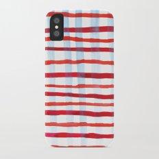 Plaid iPhone X Slim Case
