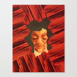 Me in Red Canvas Print