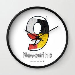 Novenine - Navy Code Wall Clock