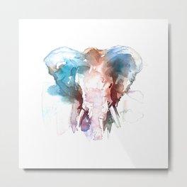Elephant head / Abstract animal portrait. Metal Print