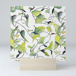 Blue and Green Vines, Pattern Mini Art Print